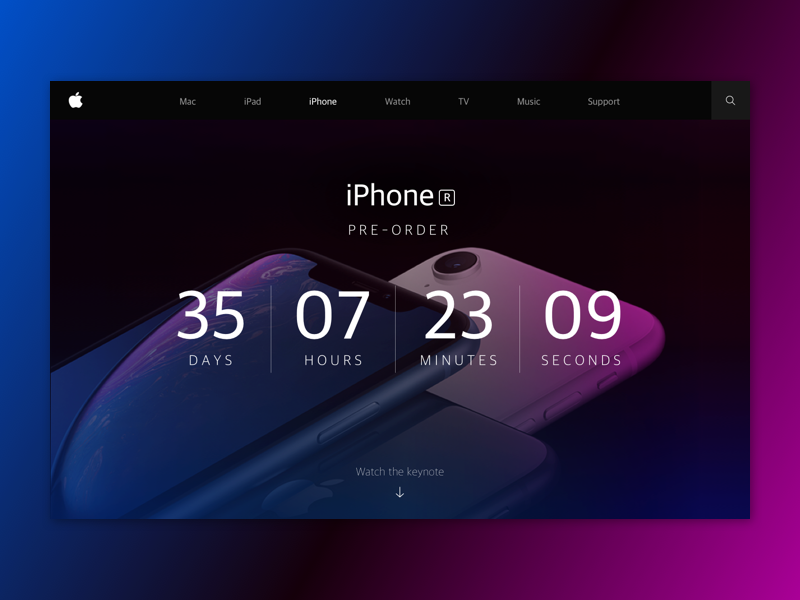 Daily UI_#014_Countdown Timer landing page landing timer countdown countdown timer 014 daily ui dailyui