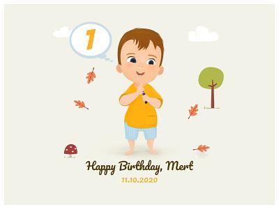 Birthday Card for My Son illustration kids birthday