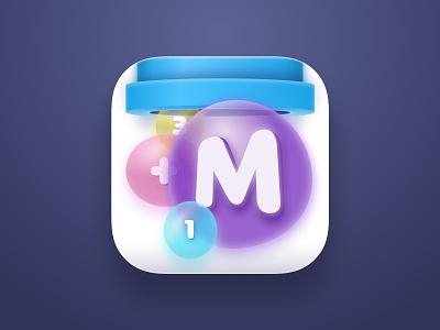 App Icon for Mathris Game bubble ios icon app icon