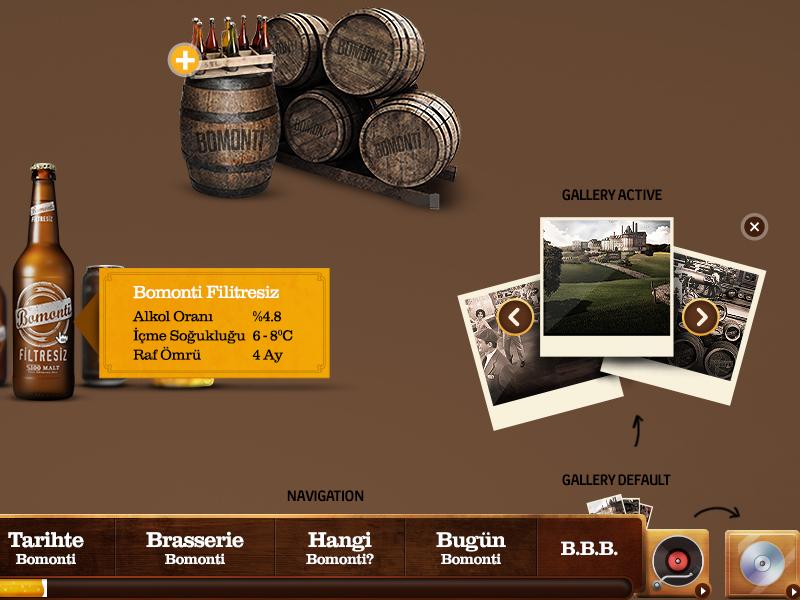 Bomonti Web Design infinity web ui bomonti beer