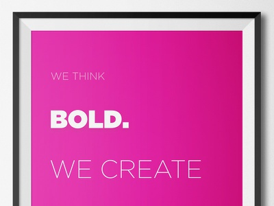 We Create monitise think pink poster bold create
