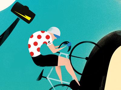 L'UOMO COL MARTELLO X LE COQ SPORTIF le coq sportif cycling poster