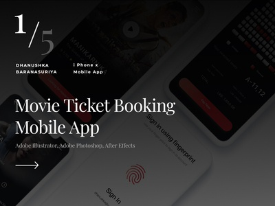 Movie Ticket Booking mobile app