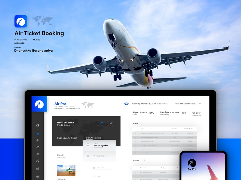 Air Ticket Booking App and Web Dashboard