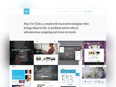 New Portfolio branding portfolio logo website web homepage grid web design minimalistic
