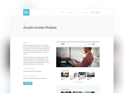 New Portfolio Project Page layout minimal web design website portfolio clean white simple