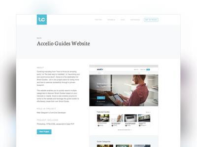 New Portfolio Project Page layout minimal web design website portfolio clean white simple