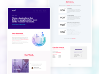 You X Website Design clean purple minimal website design web studio agency