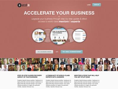 Accelio Homepage homepage website design red