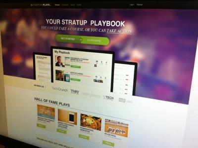 StartupPlays Homepage web banner app website design brand homepage