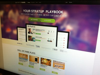 StartupPlays Homepage web banner app website design brand homepage