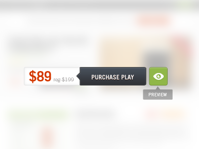 Purchase Button tooltip buy button purchase button preview ui web design