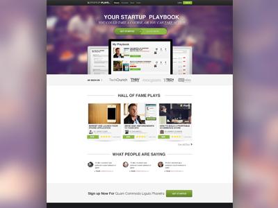 Startupplays Homepage homepage design website brand startups screenshots ui interface app web landingpage