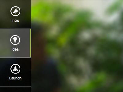 Roadmap Navigation navigation ui design menu button icons hover