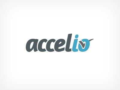 Accelio Logo brand logo mark typography design logotype
