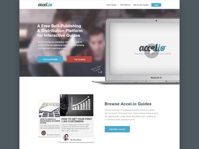 Accelio Homepage homepage design brand website app banner web header landing page webdesign