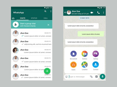 Whatsapp Chatting App Redesign