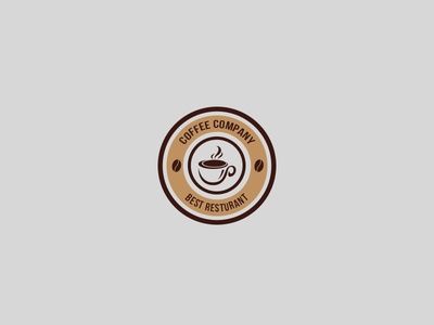 Rounded Coffee shop simple logo