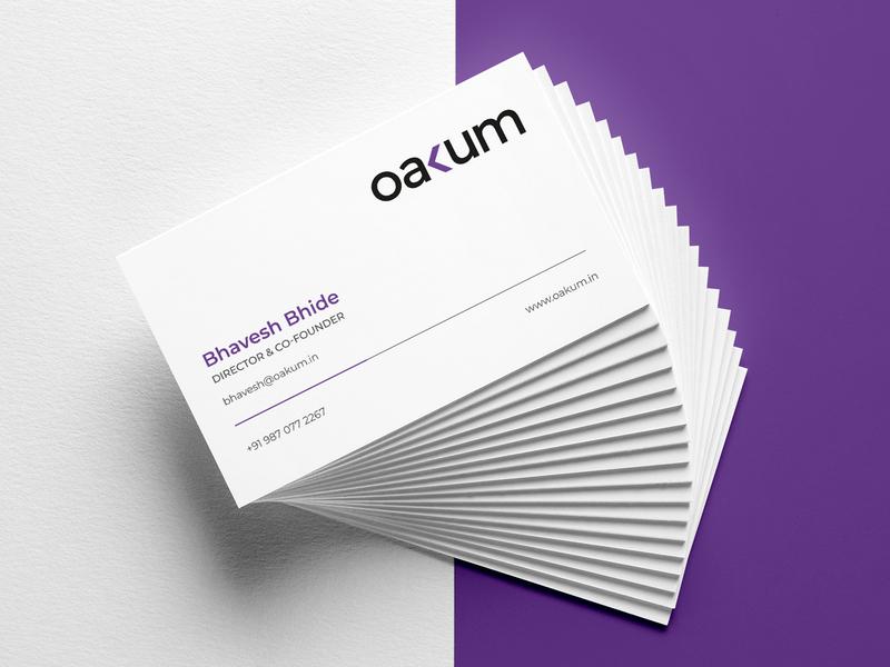 Oakum Business Card minimal minimal design layout branding business branding brand design business card design business card visiting card design visiting card
