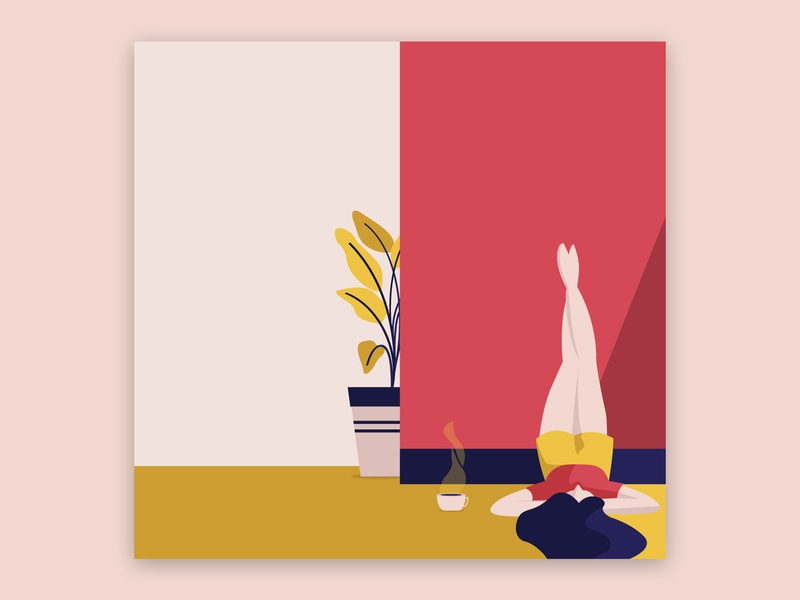 Sunday Morning visual design coffee vector illustration design sunday morning illustrator adobe adobe illustrator illustration