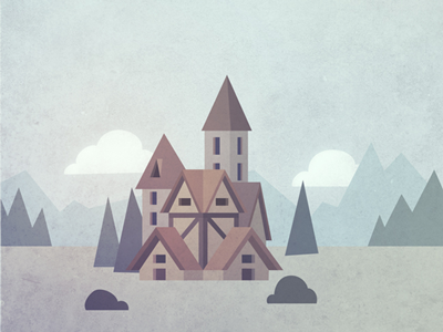 Abbey photoshop vector illustrator background cottage building convent monastery abbey