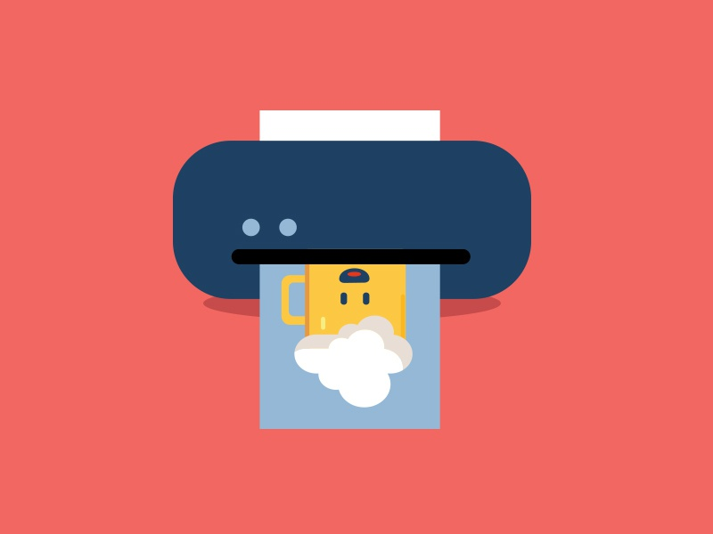 Heiny printer heiny beer mousse foam pint illustration cute mascotte