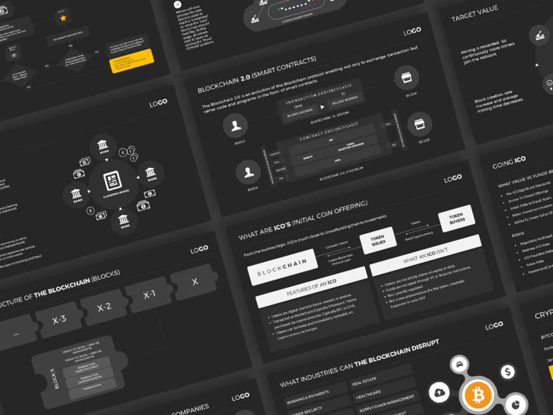 Cryptocurrency Pitch Deck Design by Partha Pratim Chanda on