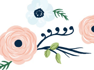 First draft of a flower illustration for a wedding invitation wedding invitation card illustration flowers flowery soft
