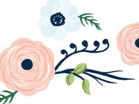 First draft of a flower illustration for a wedding invitation