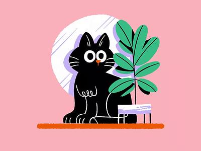 Almost weekend!🐱💤 framebyframe cat brushes amatita gif animation draw color character amatita studio 2d illustration