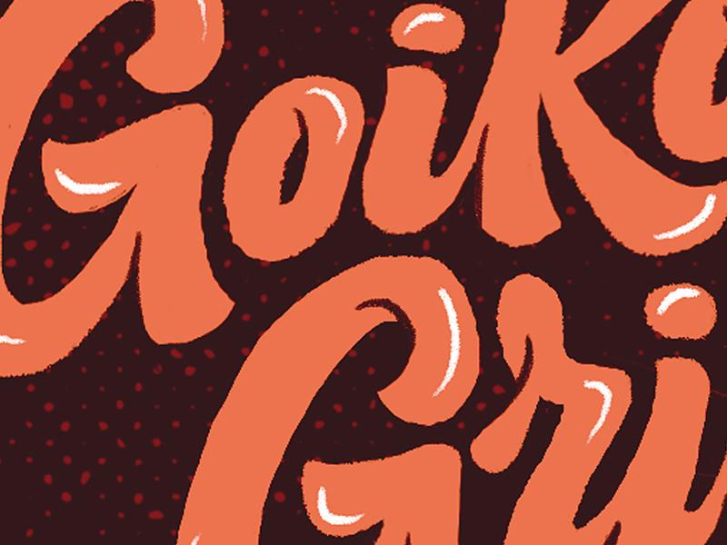 Goiko Grill Poster logo sketch goiko grill poster lettering illustration