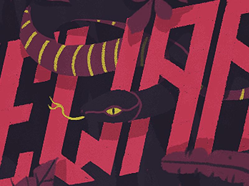 Beware typography colors logo typo lettering illustration