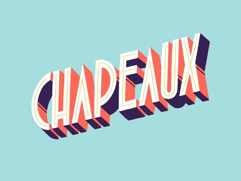 Chapeaux type typography vintage drawing typo lettering color illustration amatita studio