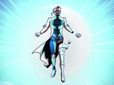 SJD - Superhéroes - Repairman comic character animation power heroes superheroes brushes vector draw amatita animation character amatita studio 2d illustration