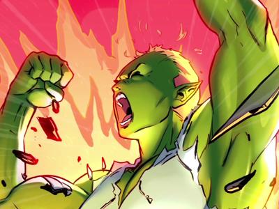 SJD - Superhéroes - Strongess comic power heroes superheroes vector amatita brushes draw animation character 2d amatita studio illustration