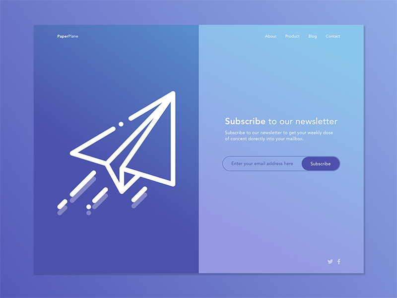 026 - Subscribe subscribe newsletter web design ux ui dailyui