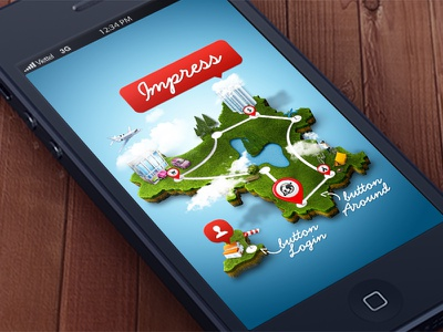 Impress impress ios location app