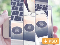 Freebies Mockup iphone 5