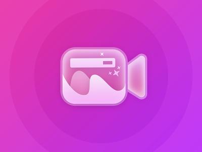 Video Editor App icon camera gradient icon app editor video