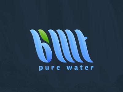 Logo BMT branding water waterfalls gradient bmt logo