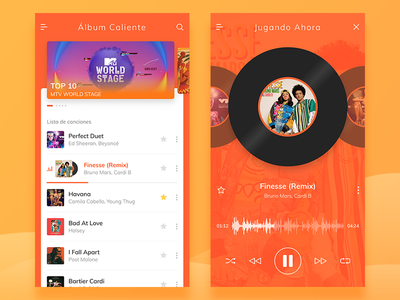 Aplicaciones de música warm open uisml spanish music ios america latin