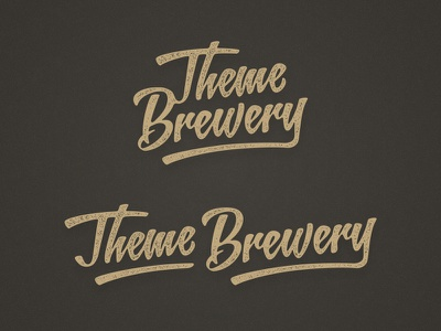 Theme Brewery Identity logo identity brown gold themes