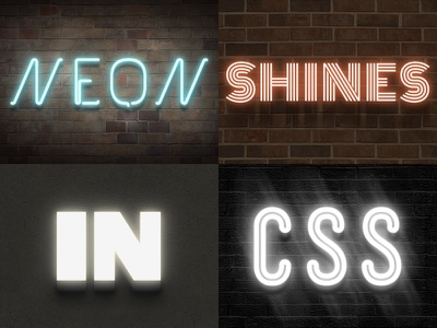 Neon CSS Styles css font-face styles