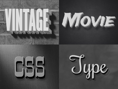 Vintage Movie CSS Styles type styles font-face css