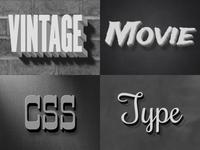Vintage Movie CSS Styles
