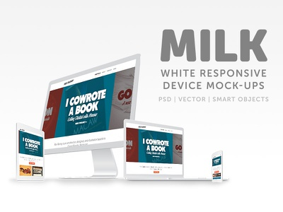 Milk - White Responsive Mockups white mockup responsive