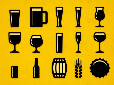 Beer Icons beer icons noun project