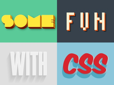 Extruded CSS Styles css font-face styles
