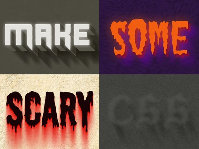 Scary CSS Styles css font-face styles