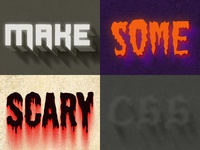 Scary CSS Styles
